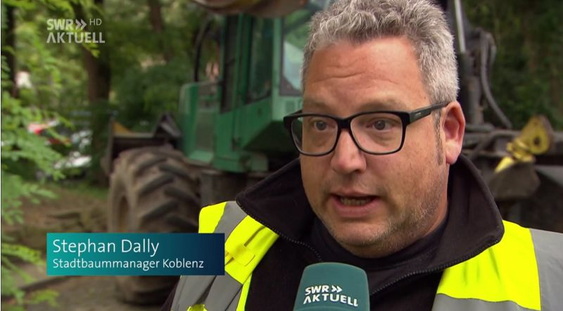 Stadtbaummanager Stephan Dally im SWR-Interview